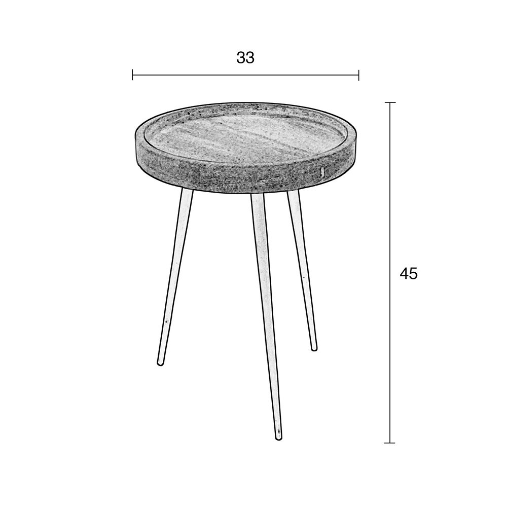 Zuiver Karrara Small Round Side Table In White