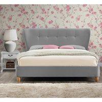 KENSINGTON UPHOLSTERED BED in Grey by Birlea  Double