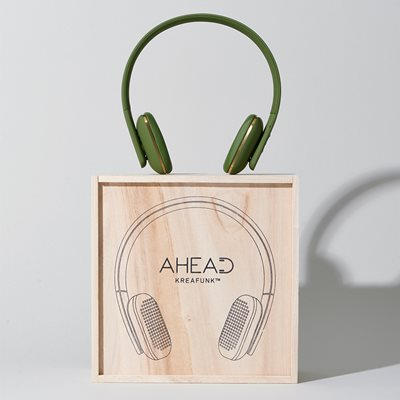 aHEAD BLUETOOTH HEADSET in Green