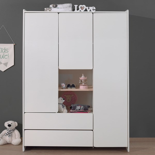 Kiddy Triple Wardrobe in White