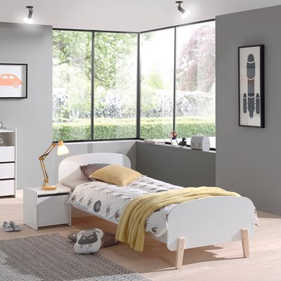 Kiddy Single Kids Bed in White
