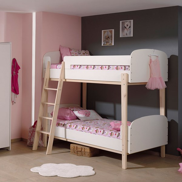Kiddy Bunk Bed in White