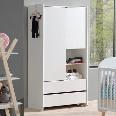 KIDDY 2 DOOR WARDROBE in White