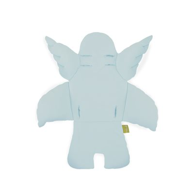 ANGEL WINGS HIGH CHAIR CUSHION in Mint Blue