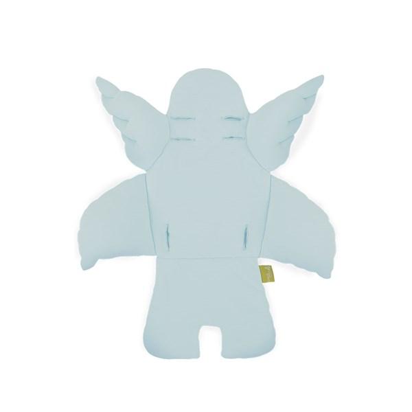 Kid's Angel Wings Cushion in Mint Blue