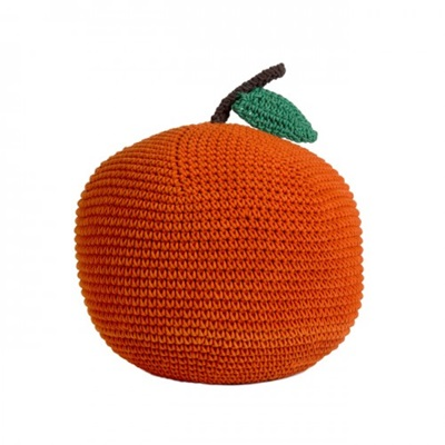 SOFT CROCHET APPLE KIDS POUFFE