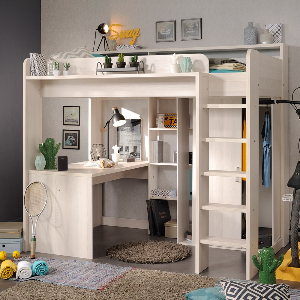 Ihram Kids For Sale Dubai: Parisot Higher Kids High Sleeper Bed With Desk And