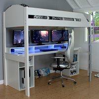 Kids Avenue Noah Gaming High Sleeper 1 - White