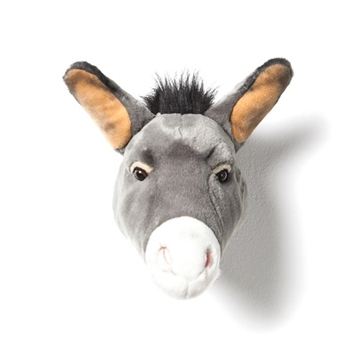 Francis the Donkey Kids Plush Animal Head Wall Decor
