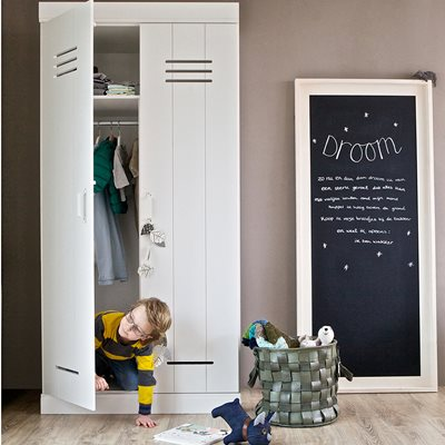 CONNECT Contemporary 2 Door Locker Cabinet With Storage
