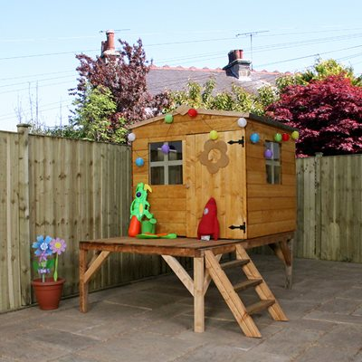 KIDS BLUEBELL WOODEN PLAYHOUSE with Tower