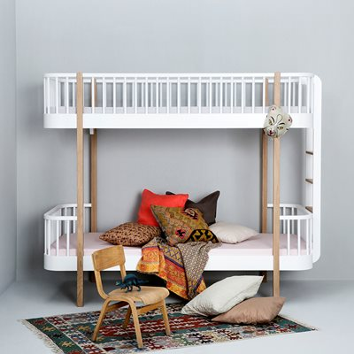 CHILDREN'S LUXURY BUNK BED in White & Oak