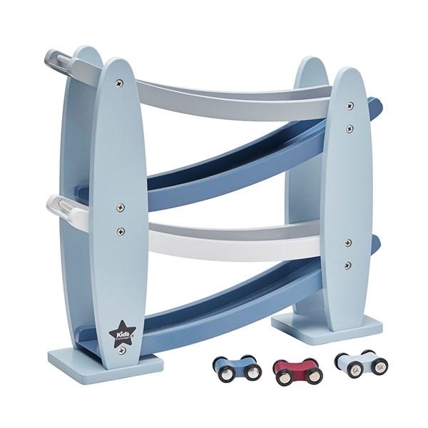 Children's Wooden Toy Car Track in Blue