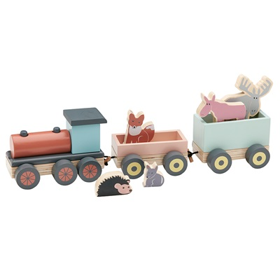 Edvin Animal Wooden Toy Train Set