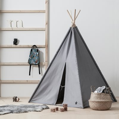 Children's Grey Teepee Play Tent