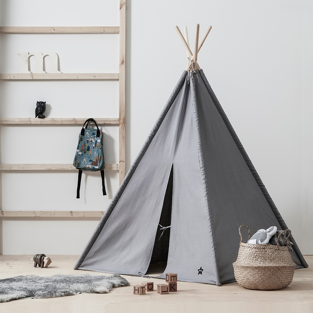 buy popular f8a55 4f77a Kids Concept Grey Teepee Play Tent