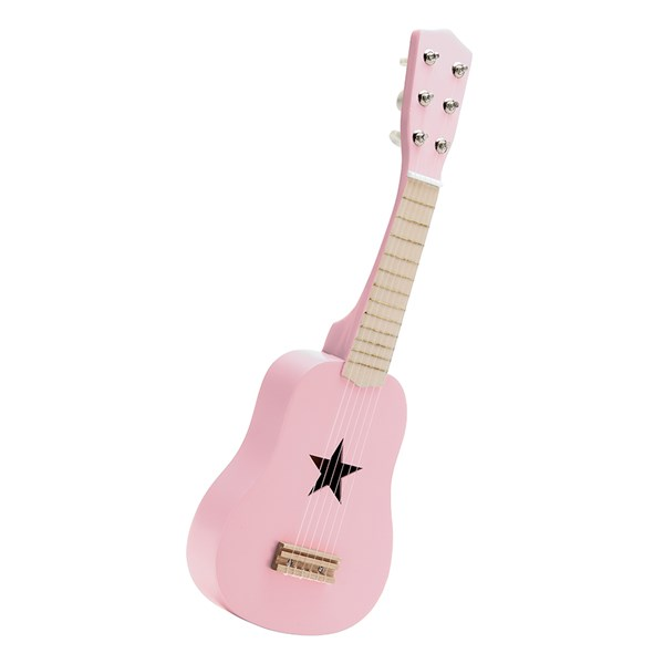 Children's Wooden Toy Guitar in Pink