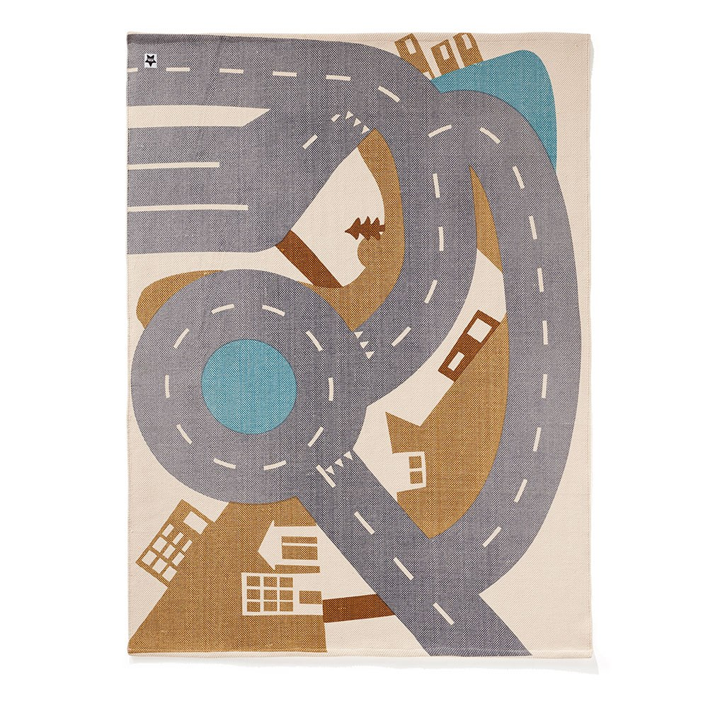Children's Aiden Car Playmat and Rug on