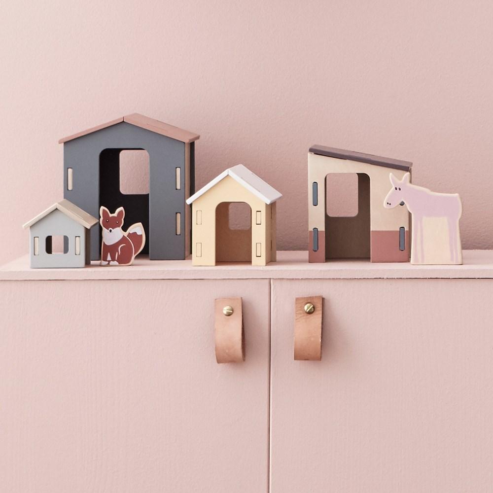 d5b7153f612 Children s Small Wooden Houses Set - Kids Concept