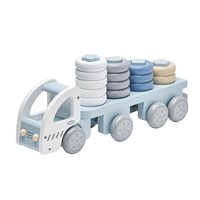Children\'s Wooden Stacking Toy Truck in Blue