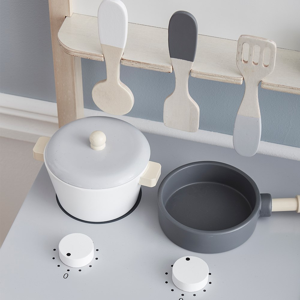 Kids Kitchen Accessories >> Kids Concept Toy Kitchen Set In White Natural