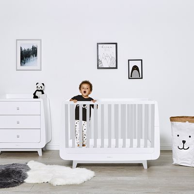 SnuzKot Luxe Cot Bed in Grey
