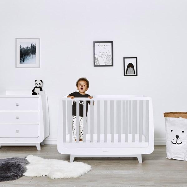 SnuzKot Luxe Cot Bed in Grey