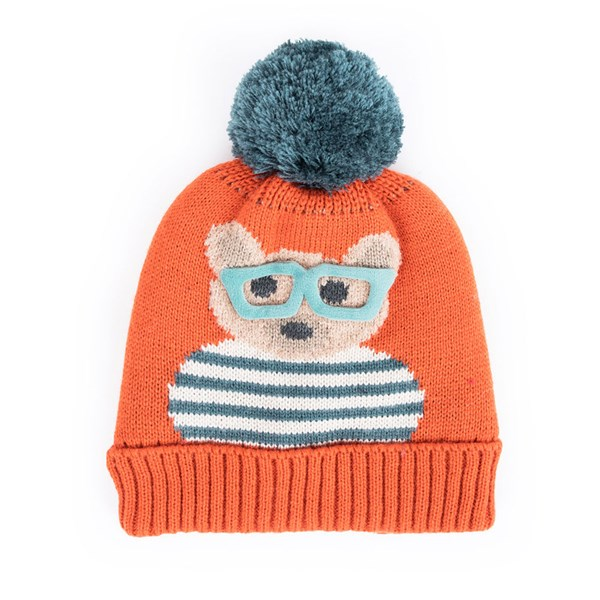 Powder Kids Cosy Teddy Hat in Tangerine