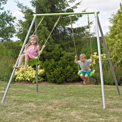 TP TOYS DOUBLE METAL GARDEN SWING SET