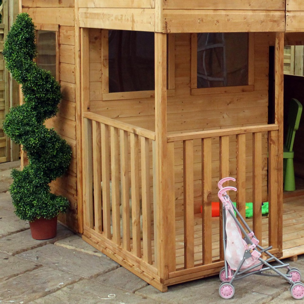 Mercia kids dutch barn double storey wooden playhouse for Dutch playhouse