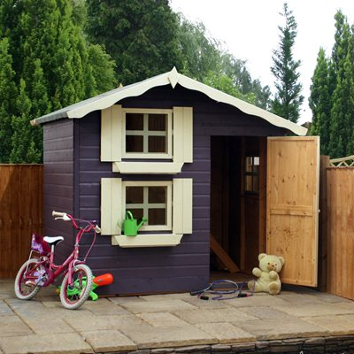 MERCIA KIDS 7x5 DOUBLE STOREY WOODEN PLAYHOUSE
