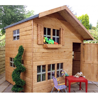 Mercia Kids 8x6 Double Storey Wooden Playhouse Kids