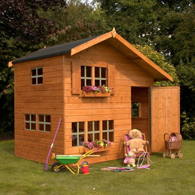 MERCIA KIDS 8X6 DOUBLE STOREY WOODEN PLAYHOUSE