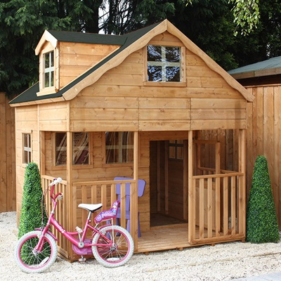 MERCIA KIDS WOODEN PLAYHOUSE with Dormer Window