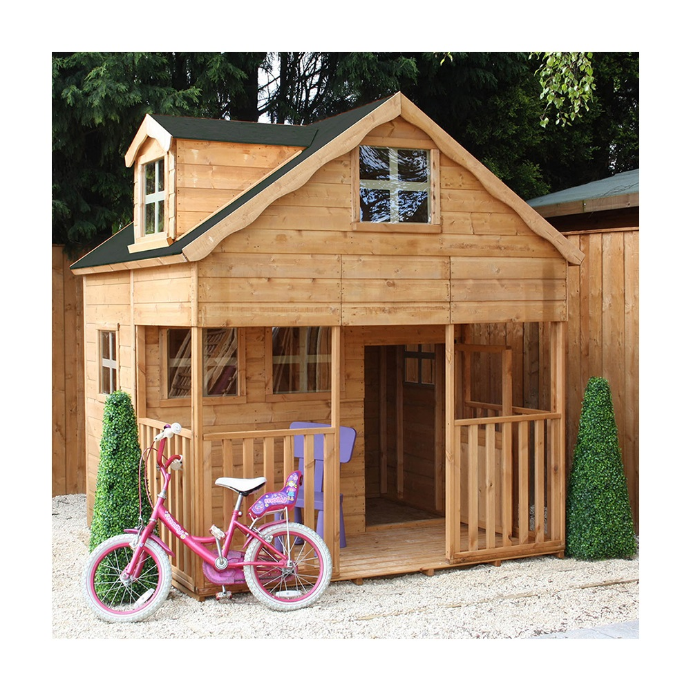 Mercia kids wooden playhouse with dormer window mercia for Dutch playhouse