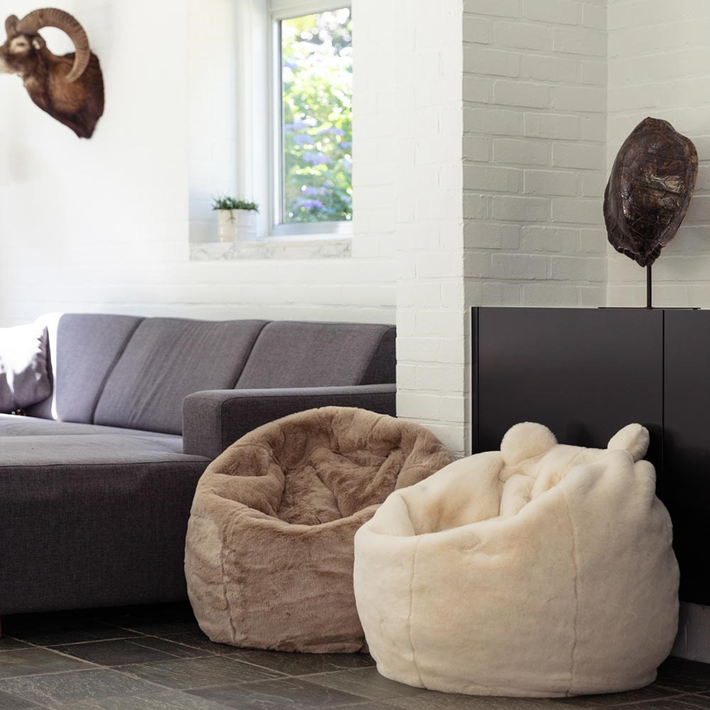 Terrific Kids Faux Fur Elephant Bean Bag Theyellowbook Wood Chair Design Ideas Theyellowbookinfo