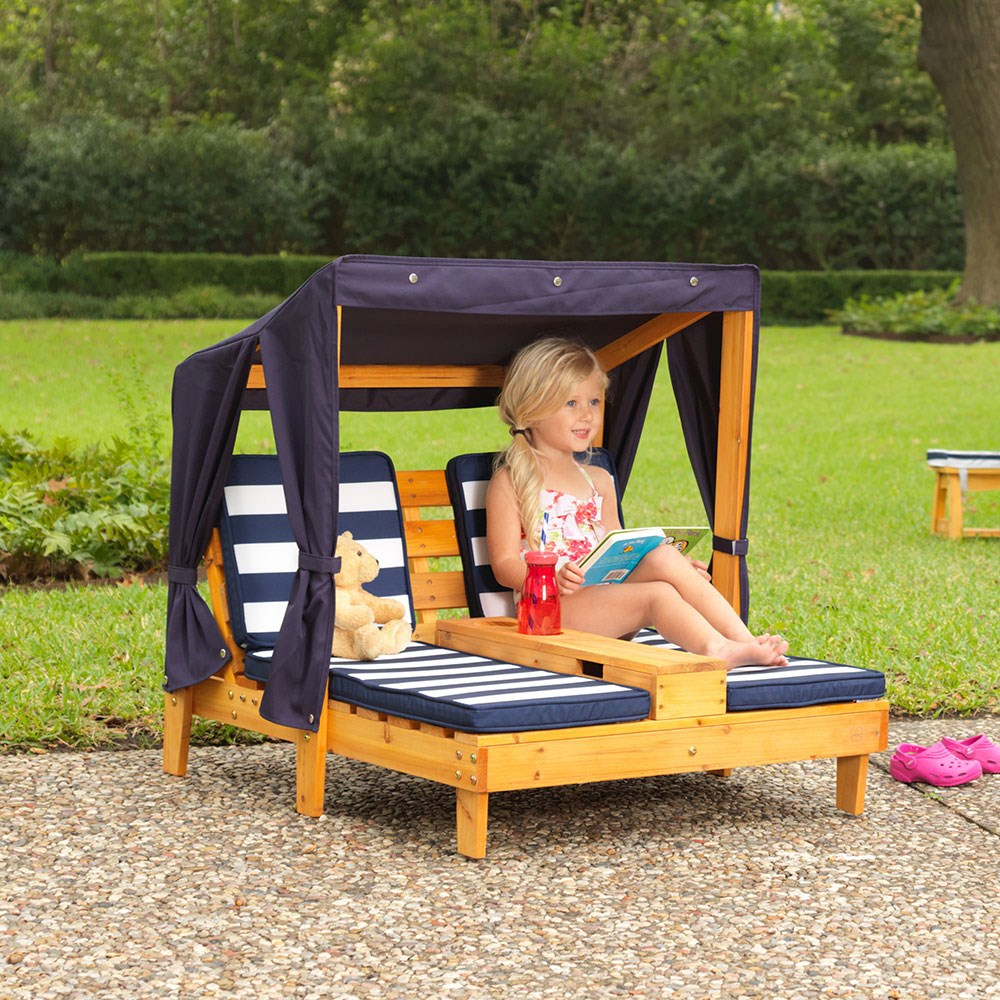 Kidkraft Childrens Double Chaise Lounge With Cupholders
