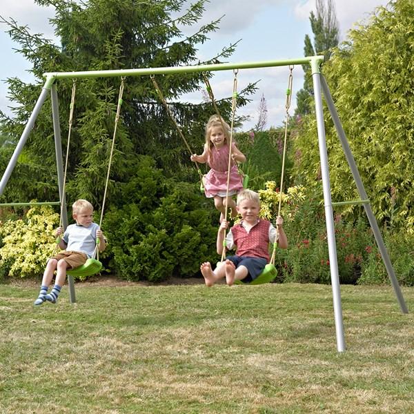 TP Toys Triple Metal Garden Swing Set