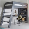 Luxury High Sleeper Bed with Desk