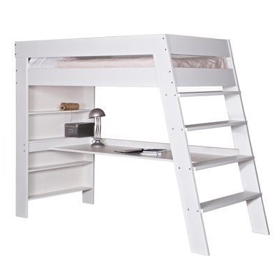 JULIEN KIDS LOFT BED & DESK in Brushed White Pine