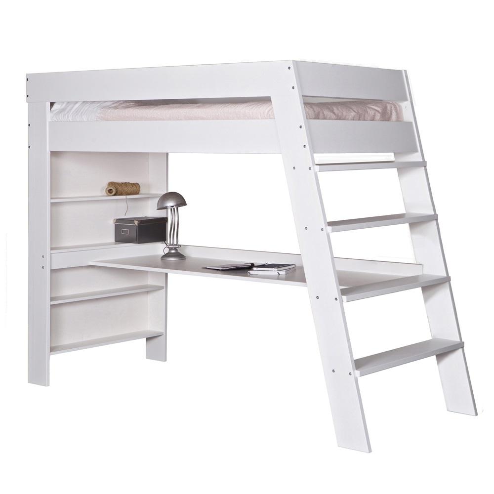 Kids Julien White Loft Bed With Desk Jpg
