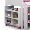 Kids Pink Cabin Bed with Storage Shelves