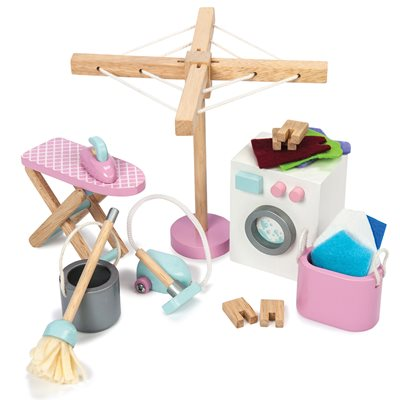 LE TOY VAN DOLLS HOUSE LAUNDRY ROOM ACCESSORIES SET
