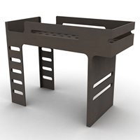 F DESIGNER KIDS LOFT BED in Dark Chocolate Finish
