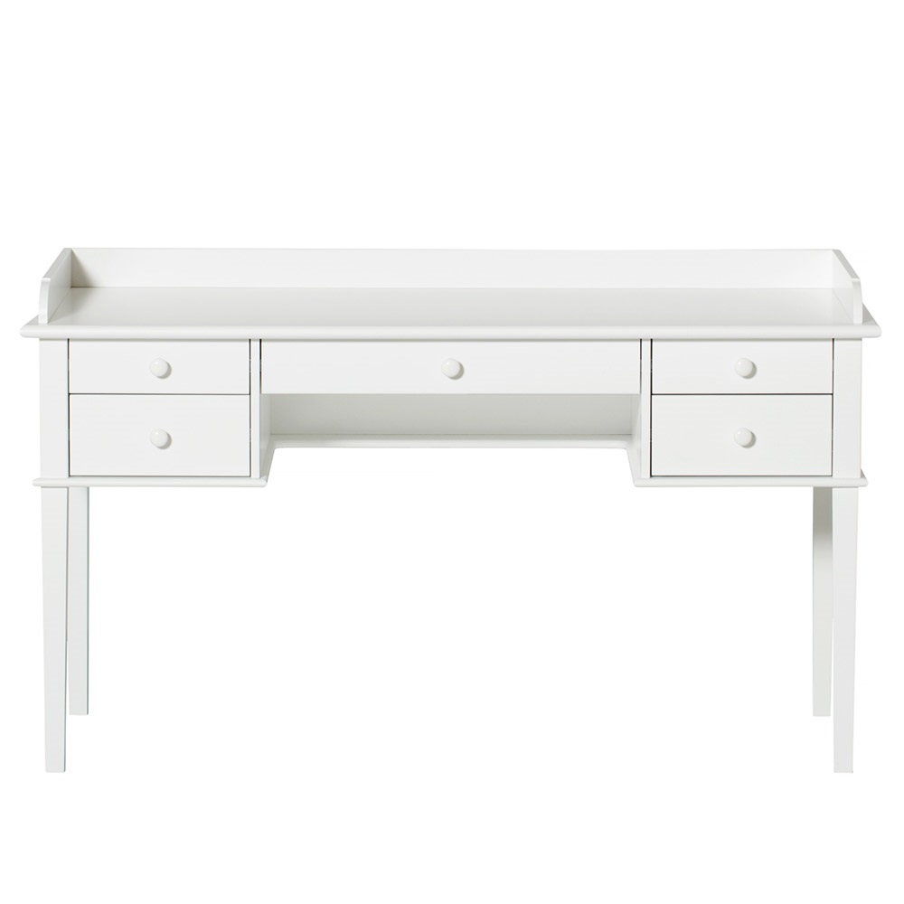 Kids Luxury White Desk With Drawers From Oliver