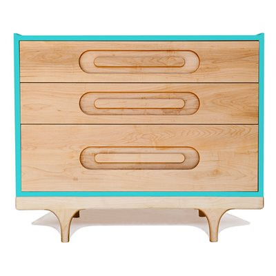 KALON STUDIOS KIDS CARAVAN DRESSER in Maple & Blue