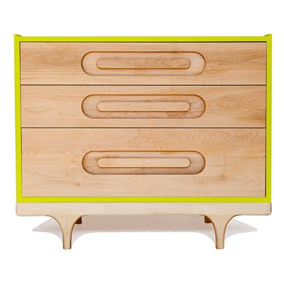 KALON STUDIOS KIDS CARAVAN DRESSER in Maple & Green