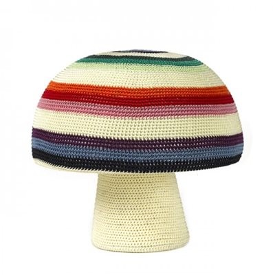 STRIPED KIDS MUSHROOM STOOL