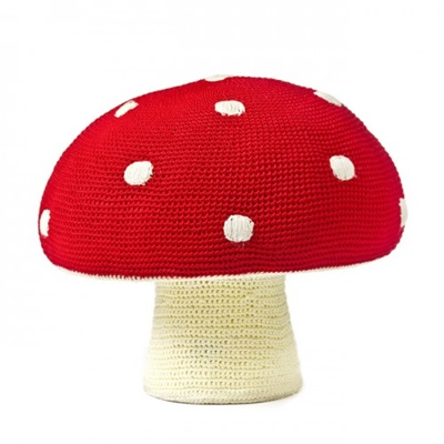 Red Mushroom Kids Stool Girls Bedroom Furniture Cuckooland