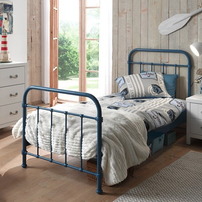 new york metal kids bed in blue kids beds cuckooland rh cuckooland com